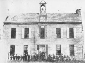Rutersville College - The main building of Rutersville College