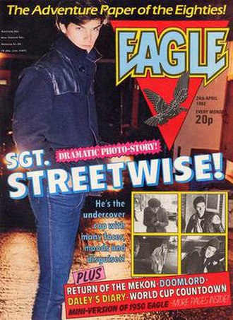 Eagle (British comics) - The front cover of an early issue of the relaunched Eagle
