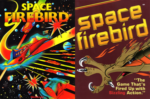 Space Firebird - Both US arcade flyers by Nintendo (left) and Gremlin Industries (right).