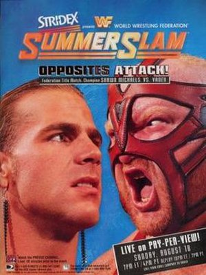 SummerSlam (1996) - Promotional poster featuring Shawn Michaels and Vader