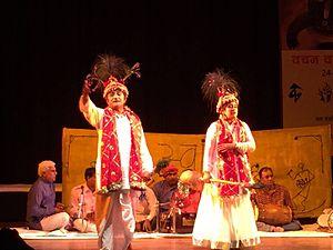 Saang - Dr Satish Kashyap as Vikramaditya with Dr Sandhya Sharma