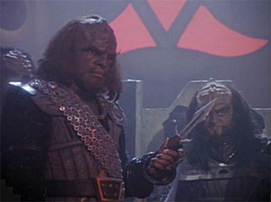 Klingon - Image: TNG redemption worf and gowron