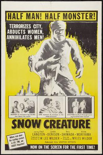 The Snow Creature - Image: The snow creature movie poster md