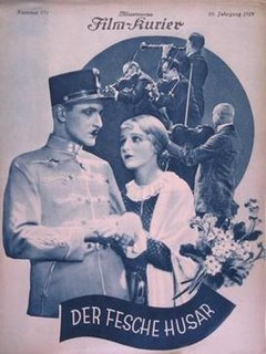 <i>The Gallant Hussar</i> 1927 film by Géza von Bolváry