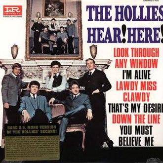 Hollies (1965 album) - Image: The Hollies Hear Here