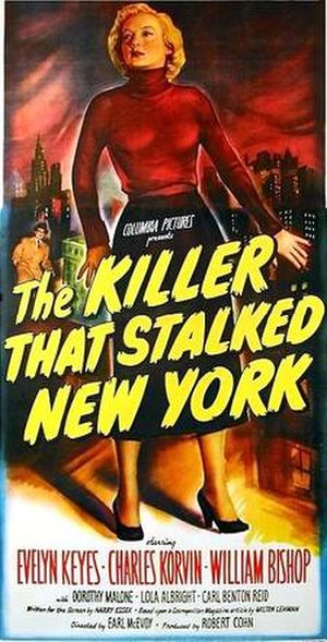 The Killer That Stalked New York - Theatrical release poster