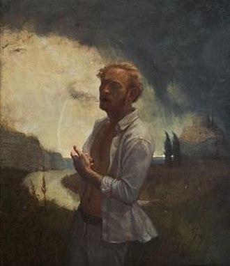 """Richard T. Scott - The Sophist Oil on Linen, 17"""" x 20"""", Painting by Richard T Scott"""