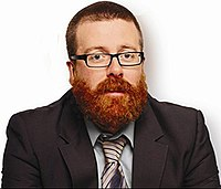 Channel 4 promotional image for Frankie Boyle's Tramadol Nights, season one. Depicts Frankie Boyle, head and shoulders with dense beard, c. November 2010.