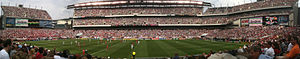 Lincoln Financial Field - Panorama of the U.S. National Soccer Team playing the National Team of Turkey on May 29, 2010 as part of the 2010 World Cup send-off series
