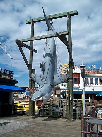 Universal Studios Florida - The previous icon of the Jaws ride is still a popular photo spot.