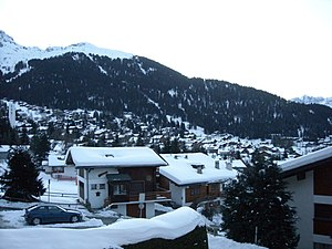 Verbier - View of Verbier Village in early morning