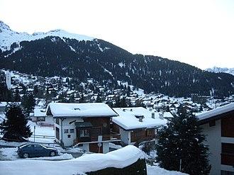 Verbier - View of Verbier Village in early morning