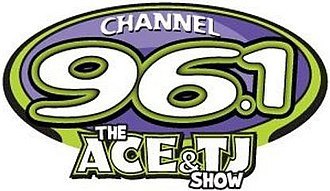 The Ace & TJ Show - Channel 96-1's former logo 2011-2014