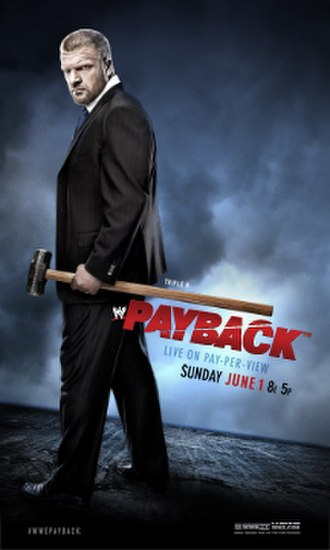 Payback (2014) - Promotional poster featuring Triple H holding his trademark sledgehammer