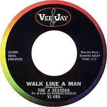Walk like a Man by The Four Seasons US vinyl A-side label.jpg