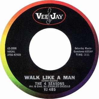 Walk Like a Man (The Four Seasons song) - Image: Walk like a Man by The Four Seasons US vinyl A side label
