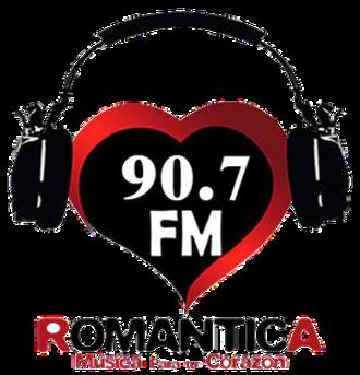 XHTCP-FM - Image: XHTCP Romantica 90.7 logo