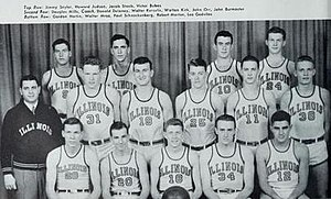 1944–45 Illinois Fighting Illini men's basketball team - Image: 1944–45 Illinois Fighting Illini men's basketball team