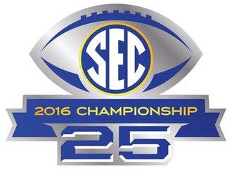 2016 SEC Championship Game - 2016 SEC Championship logo.