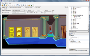 The room editor in AGS v3.3.3