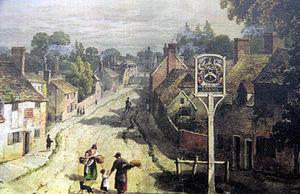 George Shepherd (artist) - Shepherd's watercolour of Aldermaston (1819)