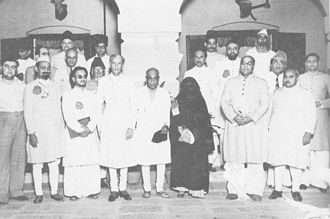 Nawab Mohammad Ismail Khan - The All-India Muslim League Working Committee – Nawab M. Ismail Khan (centre).