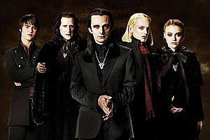 The Volturi, from left to right: Aro, Caius, A...