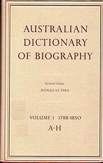 <i>Australian Dictionary of Biography</i> biographical dictionary