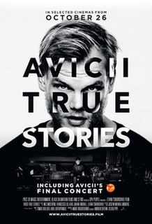 <i>Avicii: True Stories</i> 2017 documentary