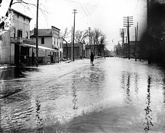 Floods in the United States: 1901–2000 - Flooding in Battle Creek – 1904