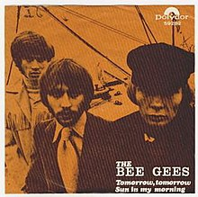 Image result for bee gees tomorrow tomorrow single images