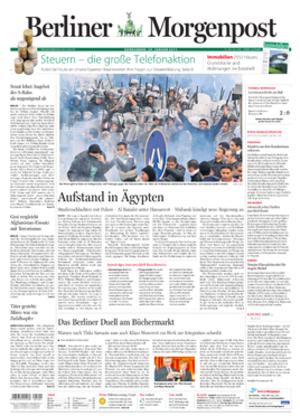 Berliner Morgenpost - Image: Berliner Morgenpost front page