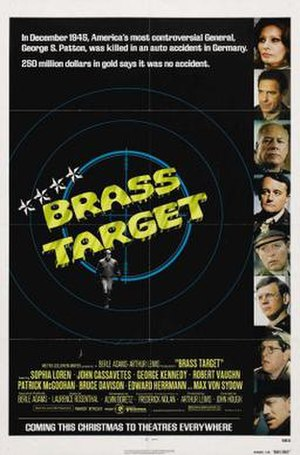 Brass Target - Theatrical release poster