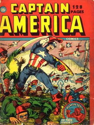 Syd Shores - Captain America Comics 128 Pages (Jan. 1942), a one-shot, 25¢ special. Cover art by Shores.
