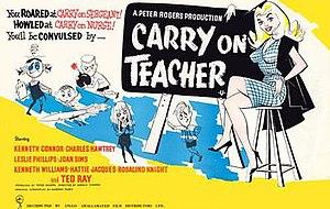 Carry On Teacher - Original UK quad poster