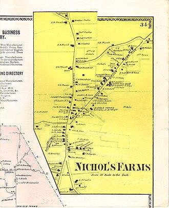 Nichols, Connecticut - Nichol's Farms in 1867