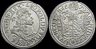 Konrad Bethmann - 3 Kreuzer coin of 1670, similar to coins struck by Konrad Bethmann