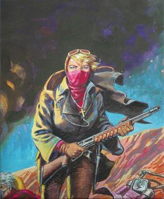Evangeline (comics) - Guns of Mars, cover by Judith Hunt and Ricardo Villagran