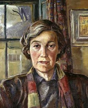 Evie Hone - Portrait of Evie Hone by Hilda van Stockum (detail)