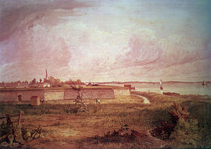Fort Mifflin - A painting of Fort Mifflin by Seth Eastman commissioned by the US Army in 1870