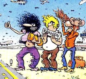 The Fabulous Furry Freak Brothers - The Fabulous Furry Freak Brothers, from left to right, Phineas, Fat Freddy and Freewheelin' Franklin