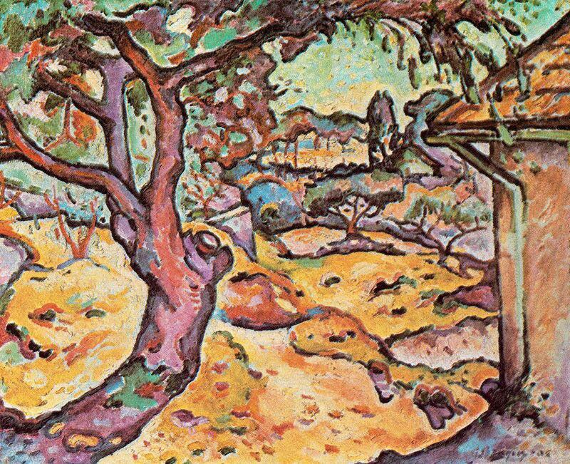 Georges Braque, 1906, L'Olivier près de l'Estaque (The Olive tree near l'Estaque)