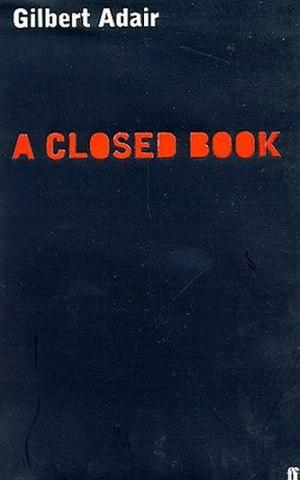 A Closed Book - Image: Gilbert Adair A Closed Book