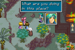 "Golden Sun: The Lost Age - ""Plot progression"" in Golden Sun games occur in cutscenes featuring character facial portraits next to text boxes."