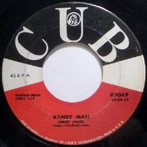 Handy Man (song) - Image: Handy Man label Jimmy Jones