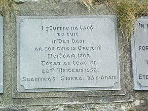 Siege of Dunboy - A memorial at the site
