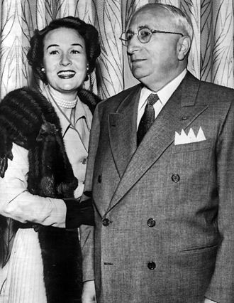 Louis B. Mayer - Mayer with wife, Lorena in 1948