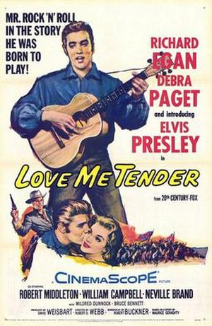 Love Me Tender (film) - film poster by Tom Chantrell
