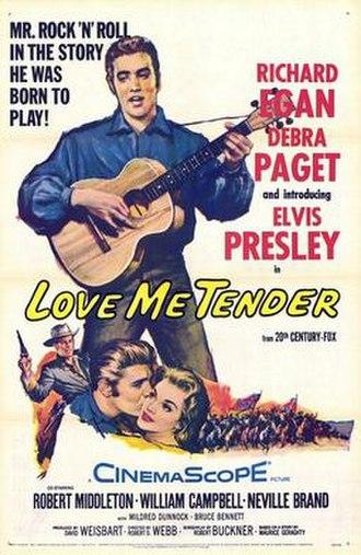 Love Me Tender (film) - film poster by Tom Chantrell