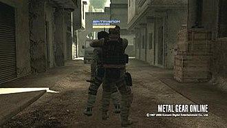 Metal Gear Online - CQC in-game action
